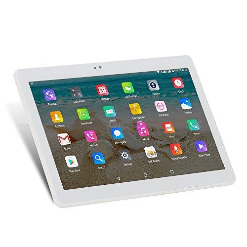 ibowin® 10.1Inch 2G RAM 32G ROM MediaTek Quad Core 3G Telefónicas Tablet PC 1280x800 IPS Resolución 3G WCDMA 2100MHz y 2G gsm WiFi GPS Bluetooth Dual-SIM Tarjeta - Plata